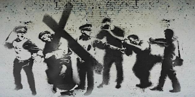 New Banksy Style Stations Of The Cross Mural Appears For Easter