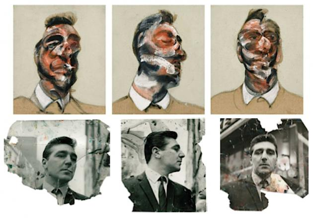 francis bacon iconic triptych portraits of lover george