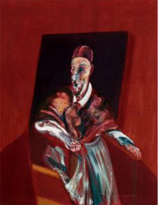 essay on francis bacon artist Francis bacon, the artist, paints disturbing images of anxiety and alienation that   the composition reaches its focal point as a primal scream shrieks from the.