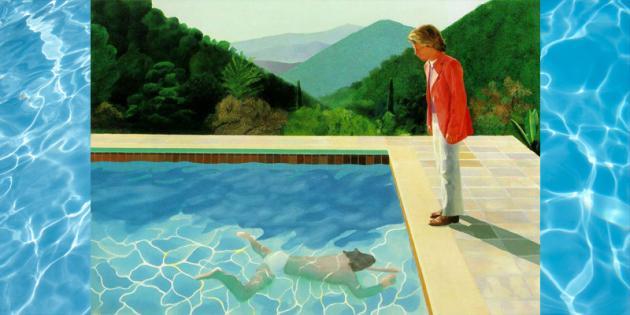 His Biggest Splash David Hockney Tate Retrospective