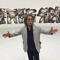 Dia Al Azzawi at the QM Gallery Al Riwaq in Doha.