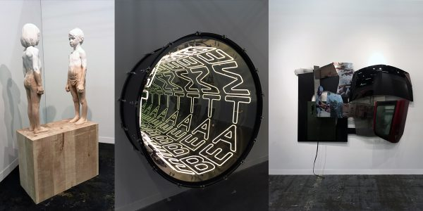 L to R Demetz Gehard- Jack Shaman Gallery Ivan Navarro - Mohamed Bourouissa Karmel Mennour