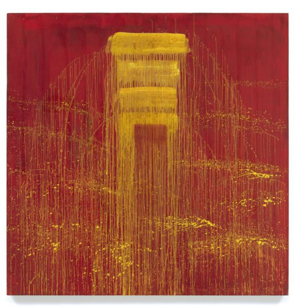 Pat Steir's Four Yellow / Red Negative Waterfall (1993)