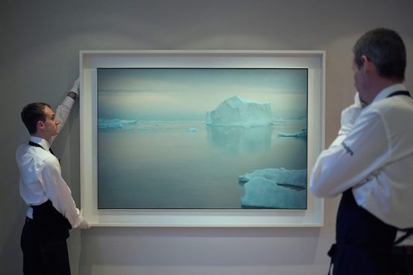 Gerhard Richter's desolately beautiful Eisberg, 1982, sold for £17.7m / $21.6m / €20.4m