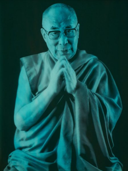 Chris Levine Portrait of the Dalai Lama courtesy amfAR AIDS Gala