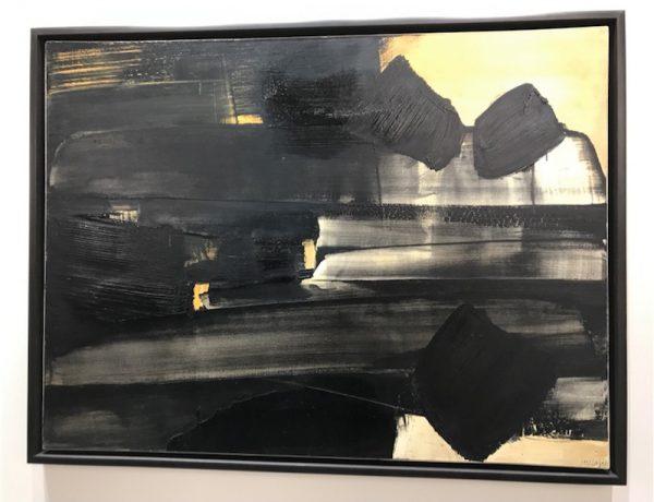 Pierre Soulages, Peinture 1961 97x130cm – Levy Gorvy