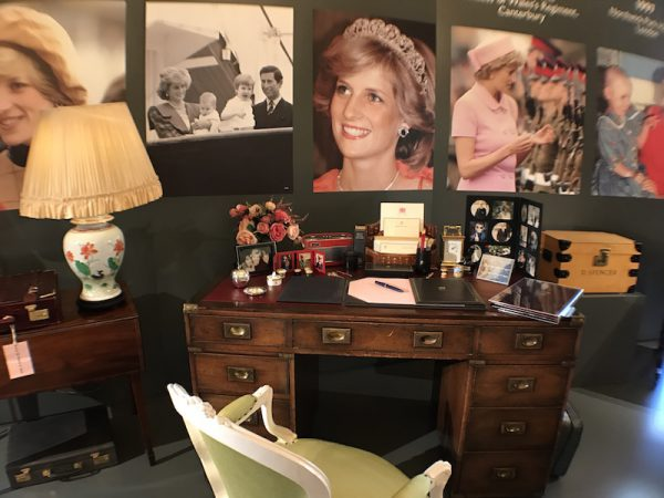Princess Diana's Desk as she left it