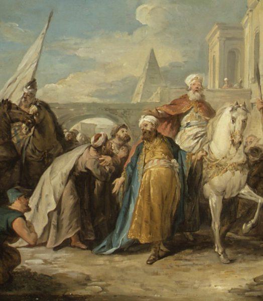 Jean-François de Troy - The Triumph of Mordecai Detail