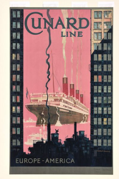 Poster From The Golden Age Of Ocean Liners