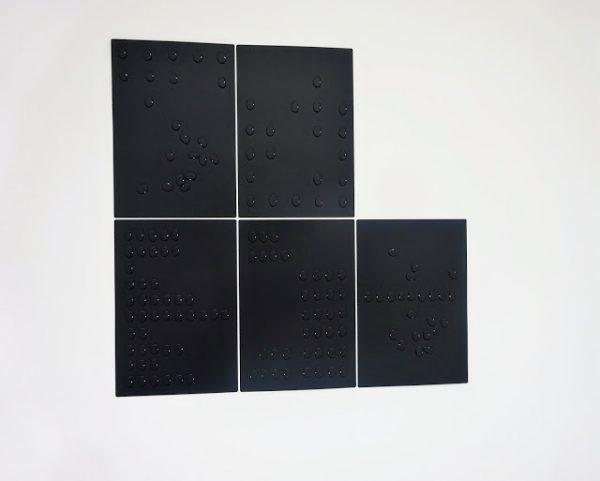 Quick Count 2, 2017 - vacuum formed panels 130 x 133cm