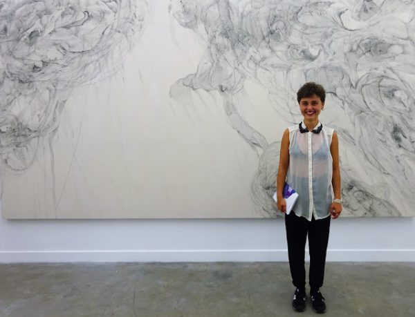 Odilia Suanzes with her Untitled, 2016