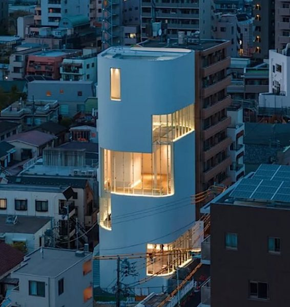 Kusama monolithic white building