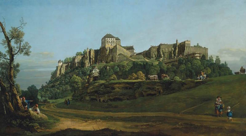 Bellotto masterpiece, 'The Fortress of Königstein from the North'