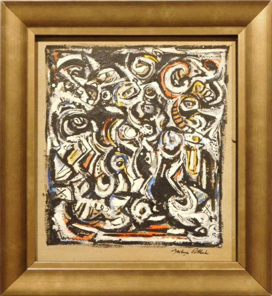 Suspected Fake Jackson Pollock Painting At Woodshed Auctioneers