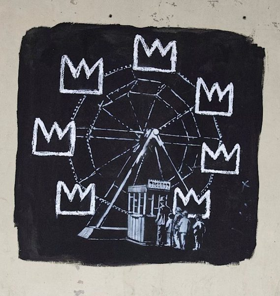 Banksy pays tribute to Basquiat... in his own way
