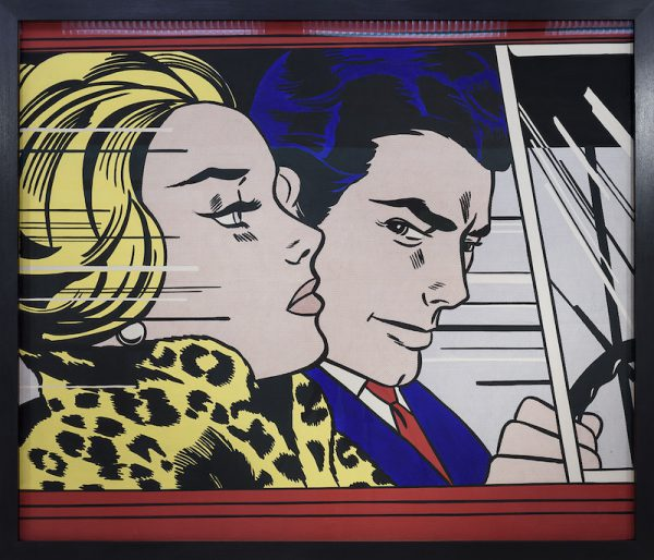 In the Car 1963 by Roy Lichtenstein