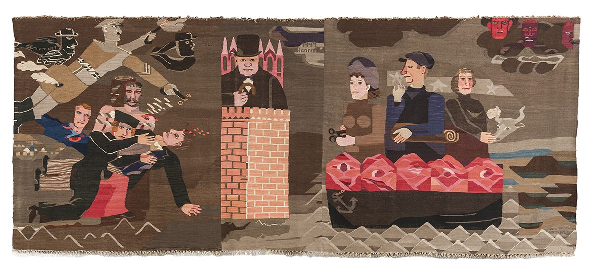 Image: Hannah Ryggen, '6 October 1942' (1943). Woven Histories, Modern Art Oxford © 2017.