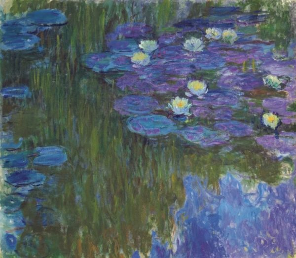 Claude Monet Nymphéas en fleur (ca. 1914-17). Photo courtesy of Christie's.