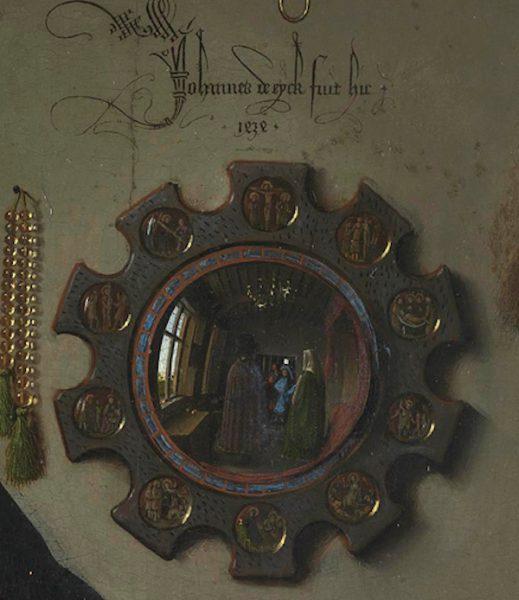 Detail from Van Eyck's Arnolfini Portrait National Gallery London