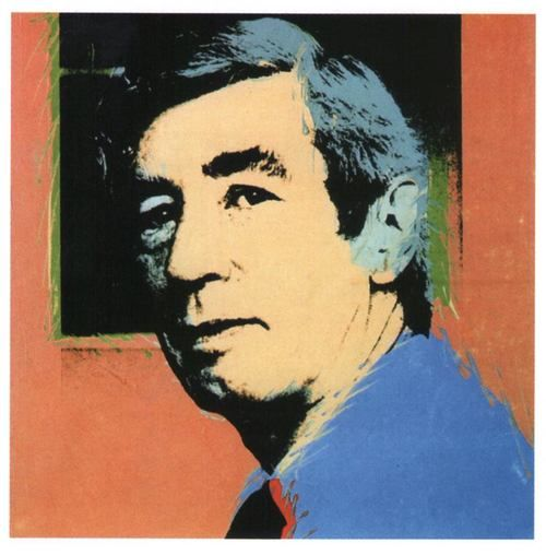In 1977, Warhol visited Europe, where he produced a pop art portrait of Hergé.