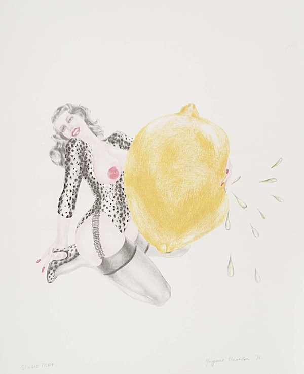 Margaret Harrison Take One Lemon 1971