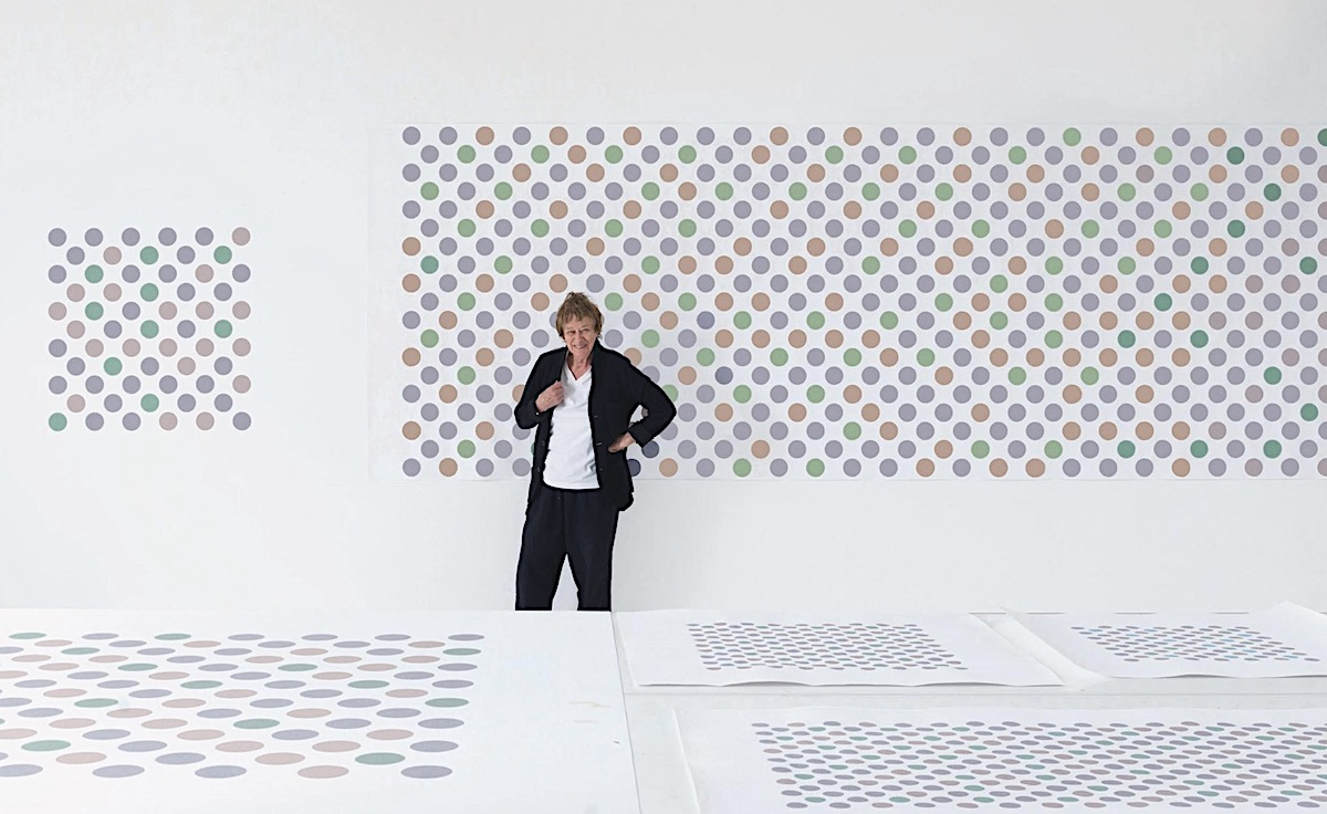artist bridget riley essay Bridget riley was an english painter, she painted abstract shapes that looked like optical illusions when you looked at them, and these were known as op art in the early 1950s she went to goldsmiths college and the royal college of art.
