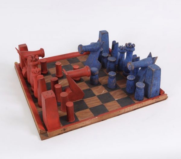 Alexander Calder Chess set c. 1944 Wood and paint
