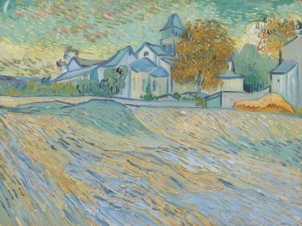 Liz Taylor's Van Gogh's Vue de l'asile et de la Chapelle de Saint-Rémy