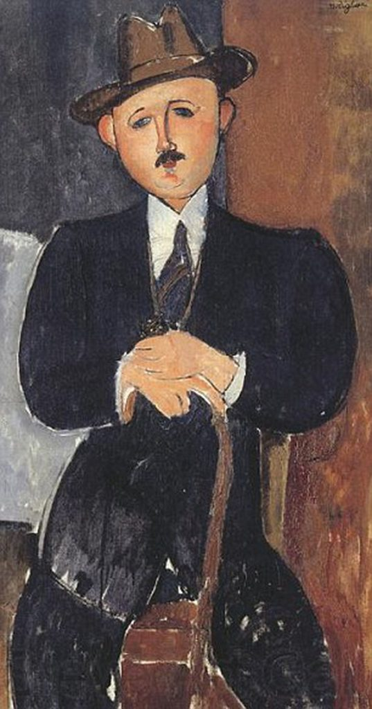 Amedeo Modigliani's Seated Man with a Cane (1918)