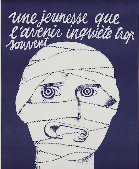 Mai 68 Posters from-the Revolution Une Jeuness Que LAvenir 1968 courtesy Lazinc