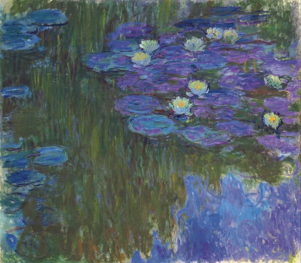 Claude Monet (1840-1926), Nymphéas en fleur, painted circa 1914-1917. 63 x 70⅞ in (160.3 x 180 cm). Sold for $84,687,500 in The Collection of Peggy and David Rockefeller: 19th and 20th Century Art, Evening Sale on 8 May at Christie's in New York