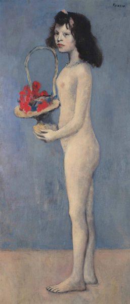 David Rockefeller Picasso's Fillette à la corbeille fleurie from 1905
