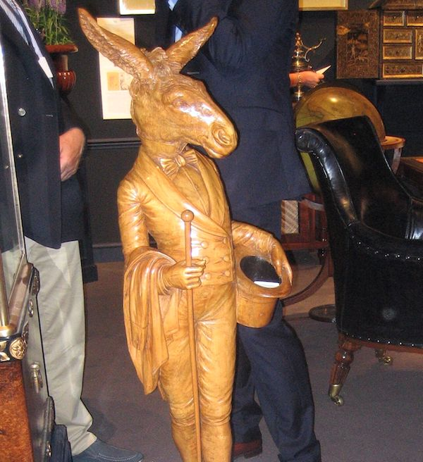 proto-Surrealist wooden carved hare from the 1890s