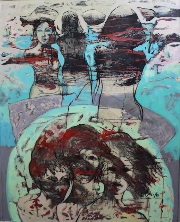 Amal Nasr - Love- 2018 Acrylic on canvas