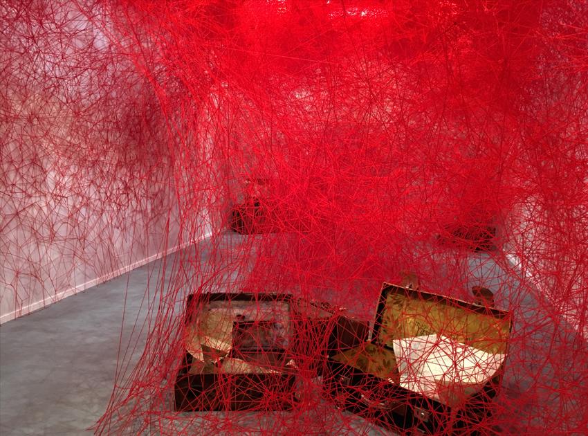 Installation by Chiharu Shiota / Photo © Courtesy of ZOLTAN+