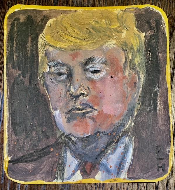Dan Llywelyn Hall, Portrait of Donald Trump