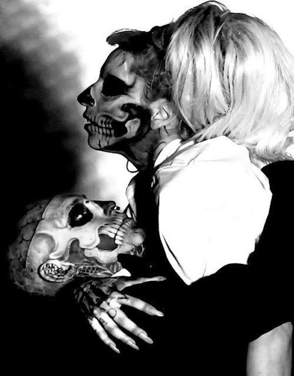 Zombie Boy and Lady Gaga courtesy Twitter
