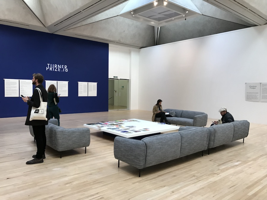 Central 'chill-out' lobby at Turner Prize 2018