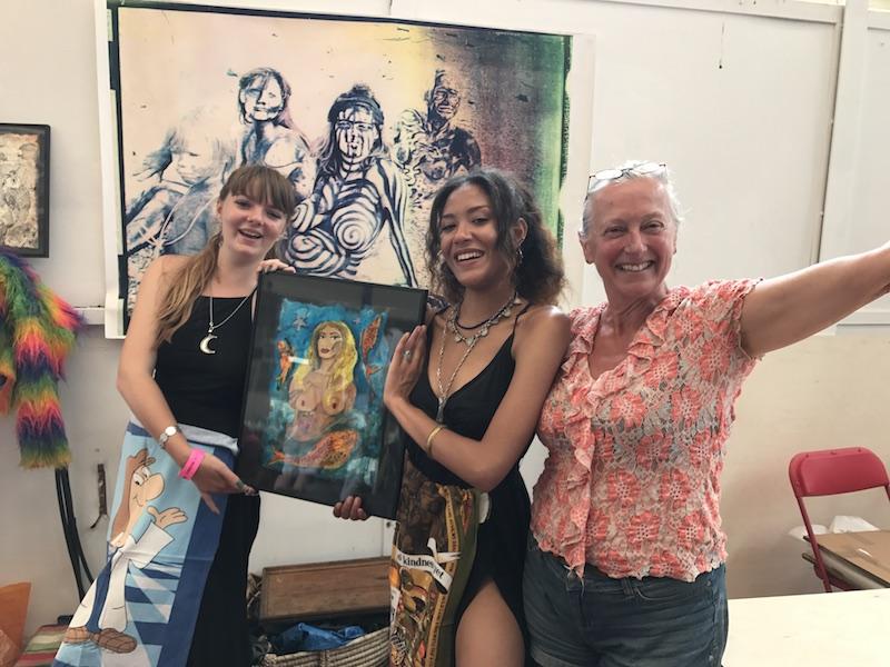 The Binnie Sisters Art Car Boot Fair