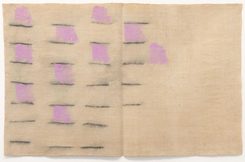 Giorgio Griffa (b. 1936) (Gallery: Galleria Lorcan O'Neill) Rose e grigio 1969