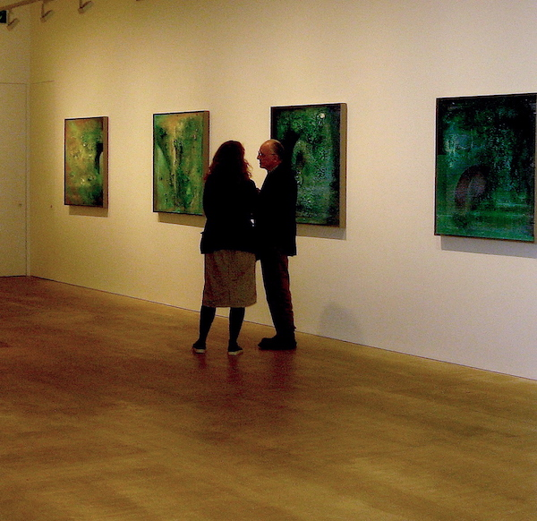 'The Golden Striker – Esk Paintings' William Tillyer's 80th birthday exhibition.