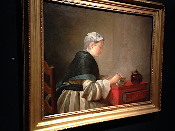 Chardin, 'Lady Taking Tea'.