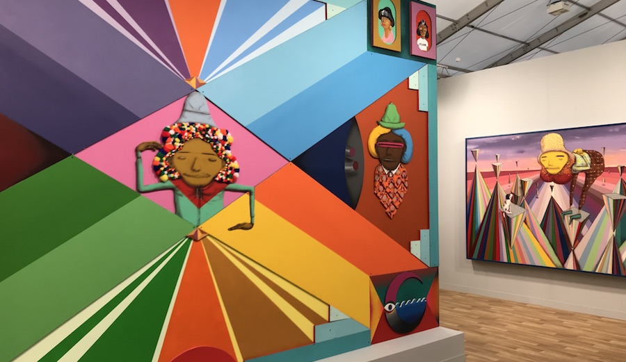 Lehmann Maupin New York presents mind bogglingly bright canvases by Osgeneos