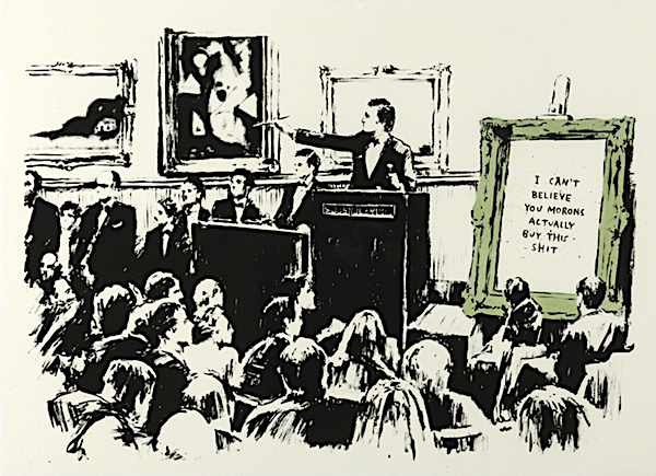 Banksy painting destroyed in artist's prank at Sotheby's auction