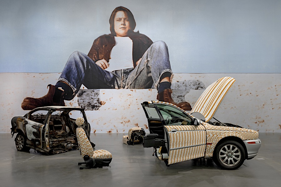 Sarah Lucas Photo: Paul Jackson at New Museum of Contemporary Art