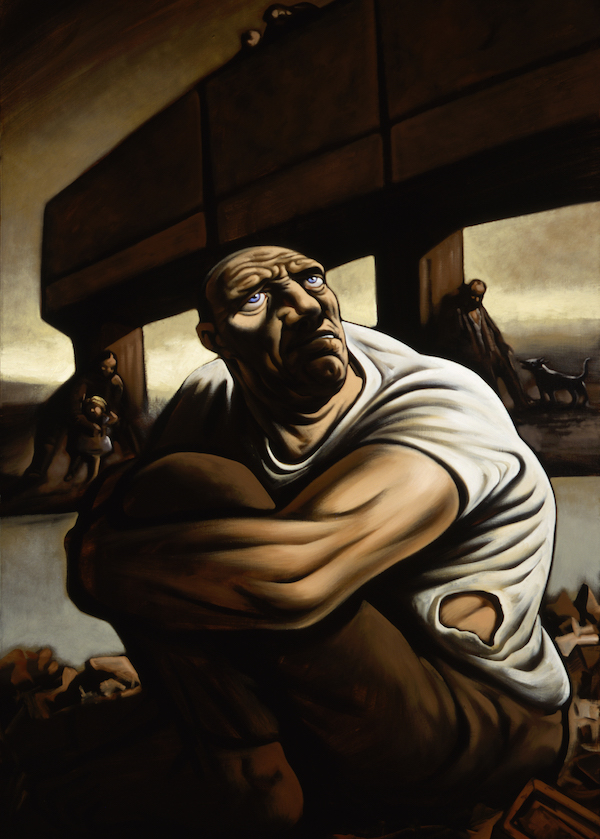 Bridge to Nowhere, 1998-99, Oil on canvas, (c) Peter Howson, Courtesy of Flowers Gallery