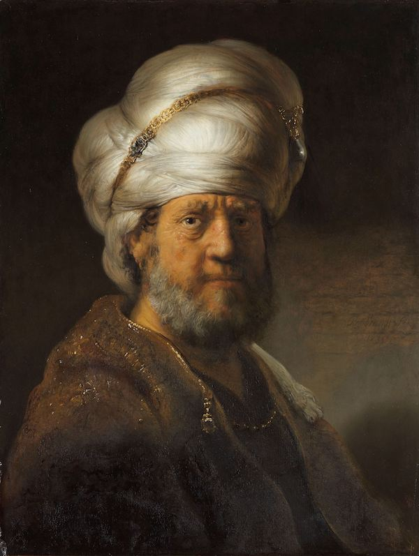 Rembrandt van Rijn, Man in Oriental Dress, 1635.