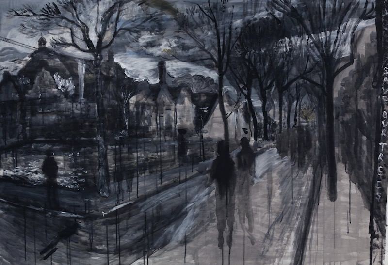 Painting by Dan made on the Western Road in 2017