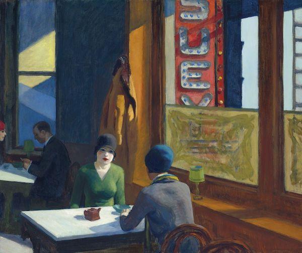 Hopper's iconic Chop Suey, 1929,