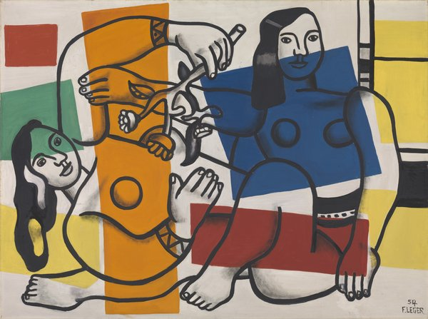Leger, Two Women Holding Flowers 1954